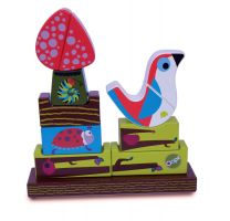 WOODEN MAGNETIC BIRD PUZZLE 11pc