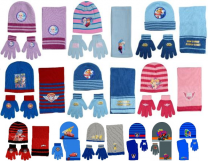 24 Kids Hat, Scarf & Glove Sets Disney Frozen, Paw Patrol Assorted