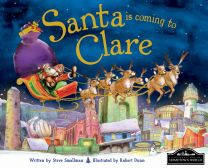 Santa Is Coming To Clare Localised Hardcover Storybook