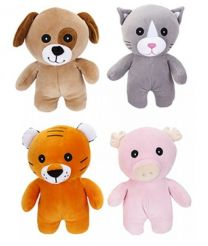 Ultra Soft 24 cm Squishy Pals Plush Toys 4 Assorted