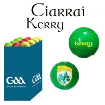 Kerry 27 Size 5 Leather Official GAA & Scór Mór Footballs in Dump Bin