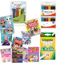 Crayons, Colouring Pencils, & Colouring Books Bundle