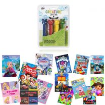 Kids Bundle Promo Colouring Books, Crayons, DVDs