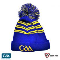 GAA Scór-Mór Bobble Beanie Hat Blue & Gold