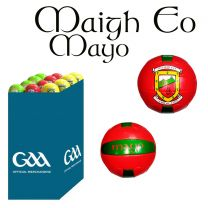 Mayo 27 Size 5 Leather Official GAA & Scór Mór Footballs in Dump Bin
