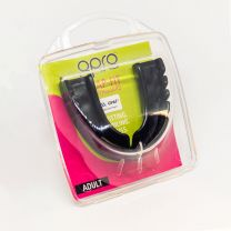 GAA Opro Snap-Fit Mouthguard For All Sports Adult - Jet Black