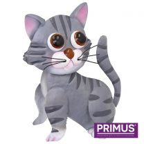 Primus Tilly the Tabby Cat Metal Sculpture (Bobble Buddies)