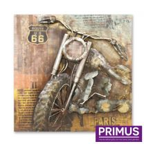 Primus Metal Chopper Handcrafted Wall Art