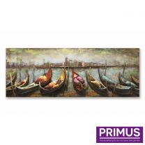 Primus Row of Gondolas Handcrafted Wall Art