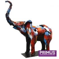 Primus The Elephant Sculpture Handcrafted 3D Metal