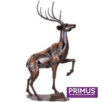 Primus The Stag Sculpture Handcrafted 3D Metal