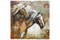 Primus Stallions of the Range Handcrafted Wall Art