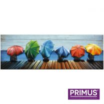 Primus Umbrellas - Large Handcrafted 3D Metal Wall Art.