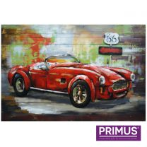 Primus American Power Handcrafted 3D Metal Wall Art.