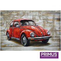 Primus Classic Cruiser Handcrafted 3D Metal Wall Art.