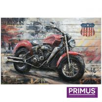 Primus American Cruiser Handcrafted 3D Metal Wall Art.