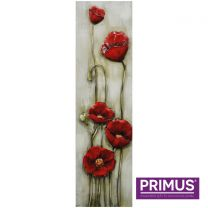 Primus Poppies Handcrafted 3D Metal Wall Art.