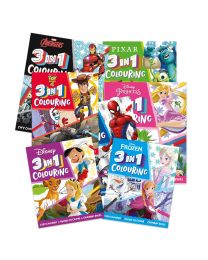 Disney 3-in-1 Colouring Book Bundle