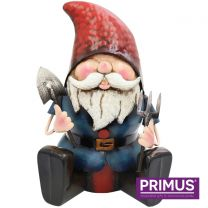 Primus Metal Gnome Ready to Dig Handcrafted Metal Sculpture