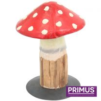 Primus Handcrafted Small Metal and Wood Toadstool