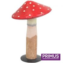 Primus Handcrafted Medium Metal and Wood Toadstool