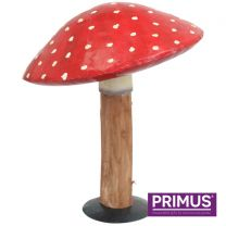 Primus Handcrafted Large Metal and Wood Toadstool