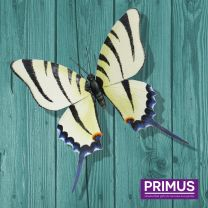 Primus Giant Metal 3D White Butterfly Handcrafted Wall Art.
