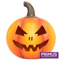 Primus Scary Pumpkin Candle Holder Handcrafted Metal Sculpture