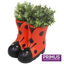 Primus Ladybird Boots Planter (Frost Proof Polyresin) Red