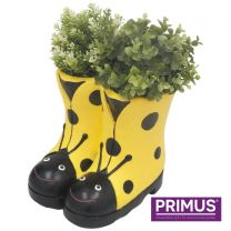 Primus Ladybird Boots Planter (Frost Proof Polyresin) Yellow