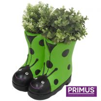 Primus Ladybird Boots Planter (Frost Proof Polyresin) Green