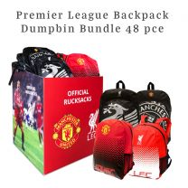 Premier League Backpack Dump Bin 48 pces ( School Rucksacks)