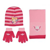 Paw Patrol Set 3Pcs Set Pink (Hat, Scarf & Gloves)