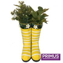 Primus Hanging Pair of Wellies Metal Planter Yellow