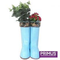 Primus Hanging Pair of Wellies Metal Planter Blue