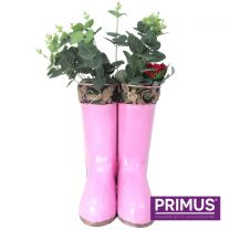 Primus Hanging Pair of Wellies Metal Planter Pink