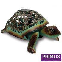 Primus Ornate Solar Tortoise Handcrafted Metal Sculpture