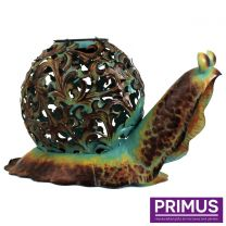 Primus Ornate Solar Snail Handcrafted Metal Sculpture