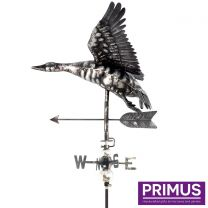 Primus 3D Flying Duck Weathervane with Garden Stake Stainless Steel