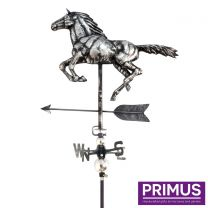 Primus 3D Horse Weathervane with Garden Stake Stainless Steel