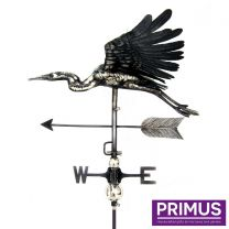 Primus 3D Flying Heron Weathervane with Garden Stake Stainless Steel