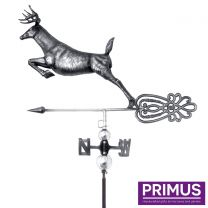 Primus 3D Deer Weathervane with Garden Stake Stainless Steel