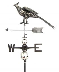 Primus 3D Pheasant Weathervane with Garden Stake Stainless Steel