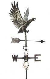 Primus 3D Eagle in Flight Weathervane with Garden Stake Stainless Steel
