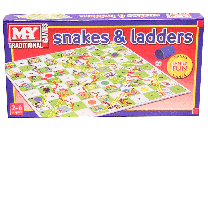Classic Snakes & Ladders Board Game