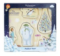Snowman & Snowdog Wooden Puzzle Play Tray