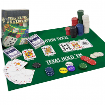 Texas Hold'Em Poker & Blackjack Set