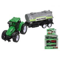 Plastic Tractor With Trailer (3 Assorted) In A Box