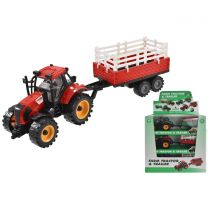 Plastic Tractor With Trailer