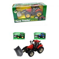 Friction Tractor Toy with Front Implements